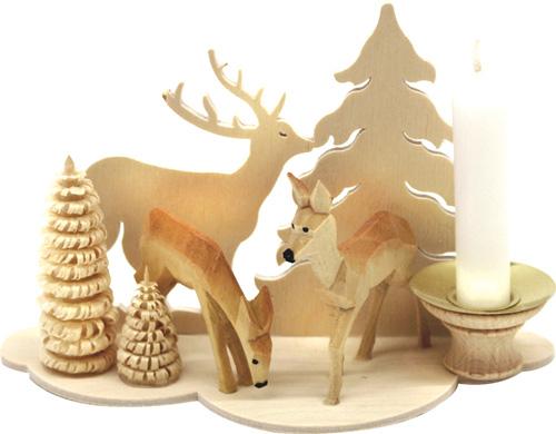 bougeoir en bois animaux de la for t. Black Bedroom Furniture Sets. Home Design Ideas