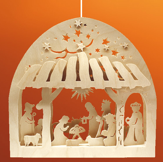 creche de noel en bois electrique avec personnages. Black Bedroom Furniture Sets. Home Design Ideas