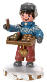 Winterkinder Hubrig, figurines miniatures en bois